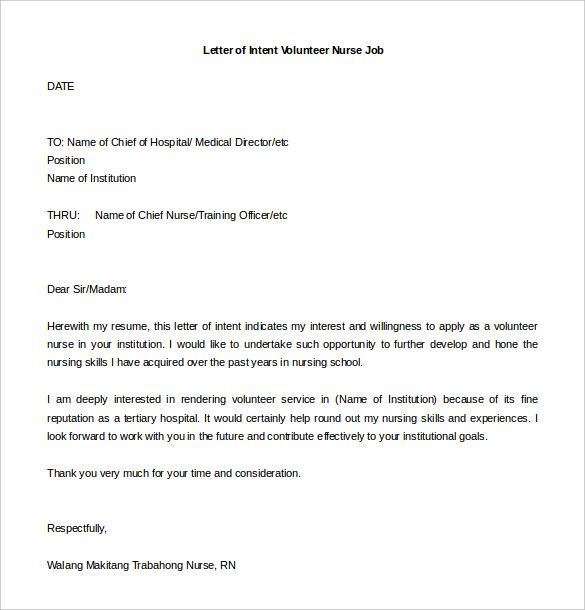 job application letter of intent template best resume examples sample high level format Resume Letter Of Intent Resume Sample