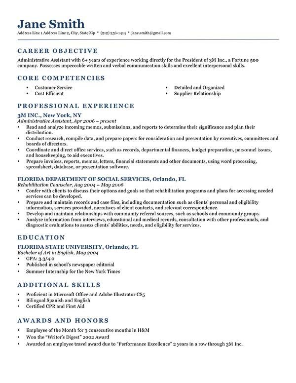 job application resume objective example best examples career for experienced software Resume Career Objective For Resume For Experienced