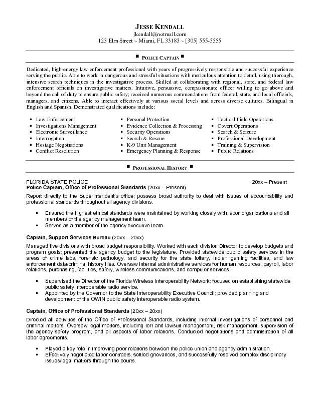 job police captain resume samples officer federal objective statement cost controller Resume Police Officer Resume Objective Statement