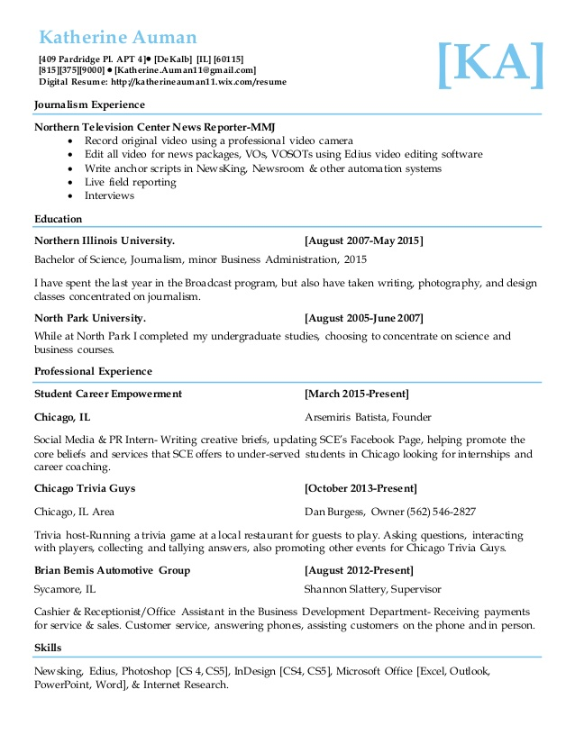 journalism resume wix and degree skills for entry level customer service examples Resume Journalism Skills For Resume