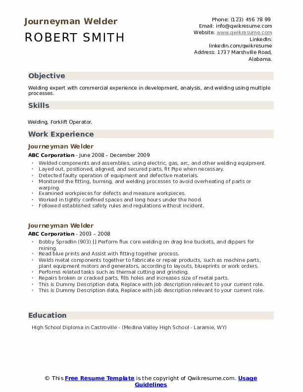 journeyman welder resume samples qwikresume pdf skills and abilities for accounting free Resume Journeyman Welder Resume