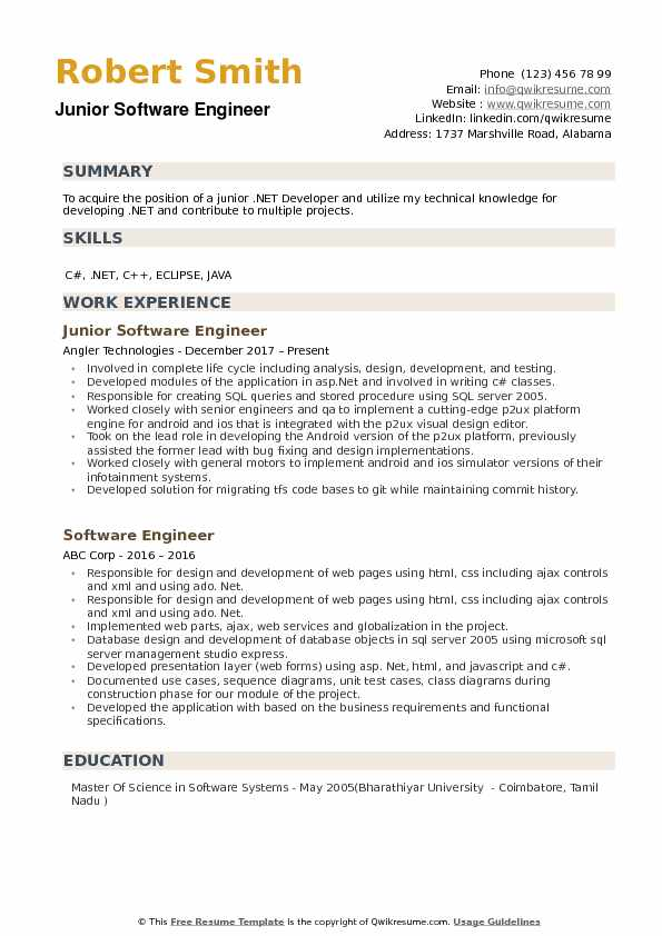 junior software engineer resume samples qwikresume web scraping sample pdf of cse Resume Web Scraping Resume Sample
