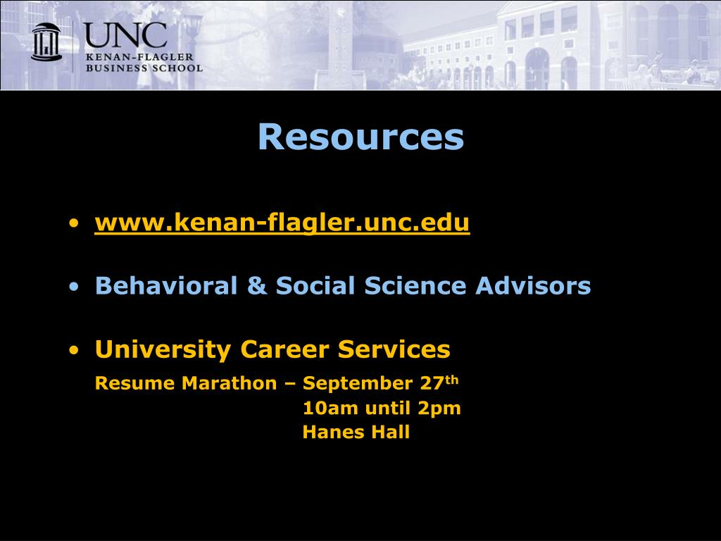 kenan business school welcomes you admissions information session powerpoint presentation Resume Kenan Flagler Resume Template