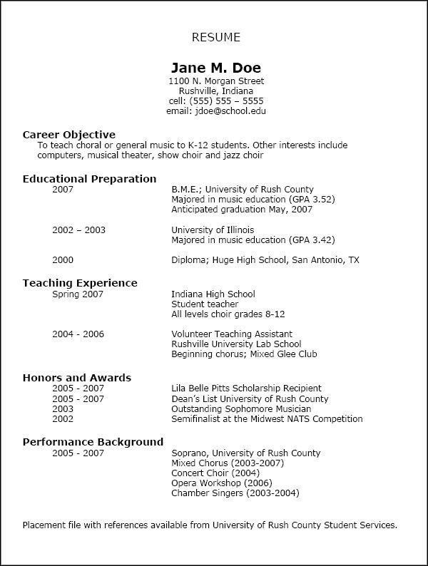 know your resume inside out the interviewer probably ask you questions about it and Resume High School Musical Resume