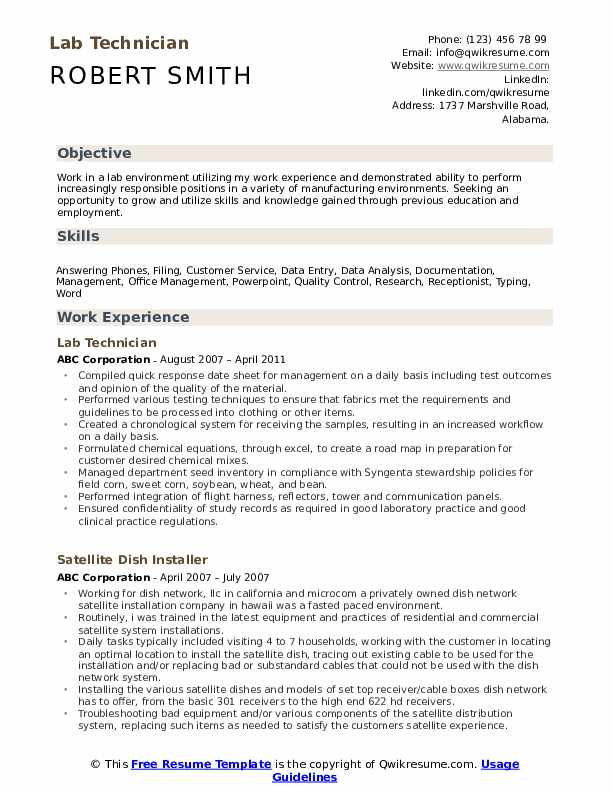 lab technician resume samples qwikresume research examples pdf format for ats excel vba Resume Research Technician Resume Examples