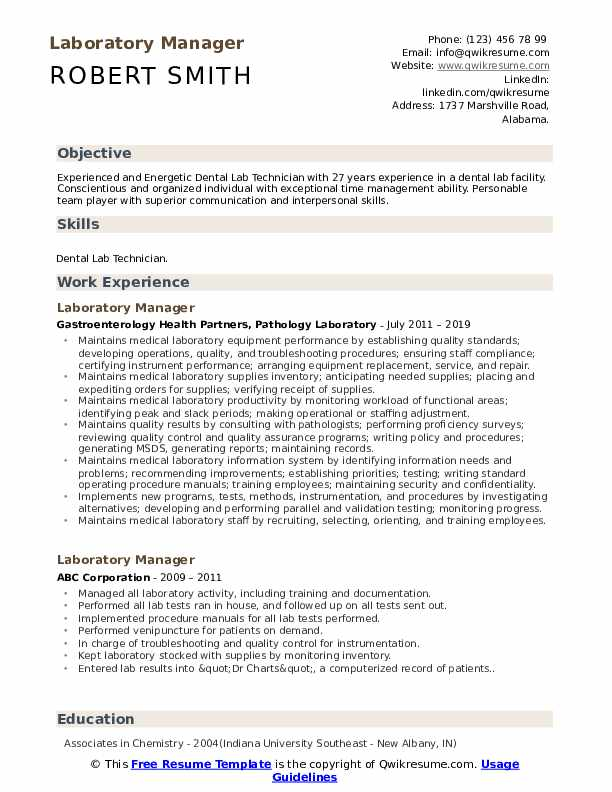 laboratory manager resume samples qwikresume pdf pizza delivery driver logistics project Resume Laboratory Manager Resume
