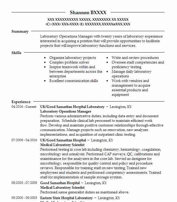 laboratory operations manager resume example adena health system chillicothe family Resume Laboratory Manager Resume