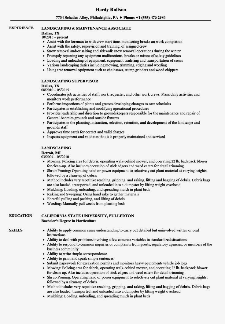 landscaping resume templates try them now myperfectresume in examples writing Resume Professional Resume Writing Services Philadelphia