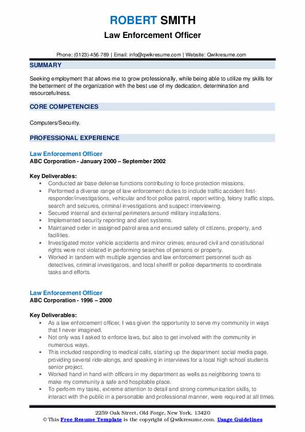 law enforcement officer resume samples qwikresume police writing services pdf restaurant Resume Police Resume Writing Services
