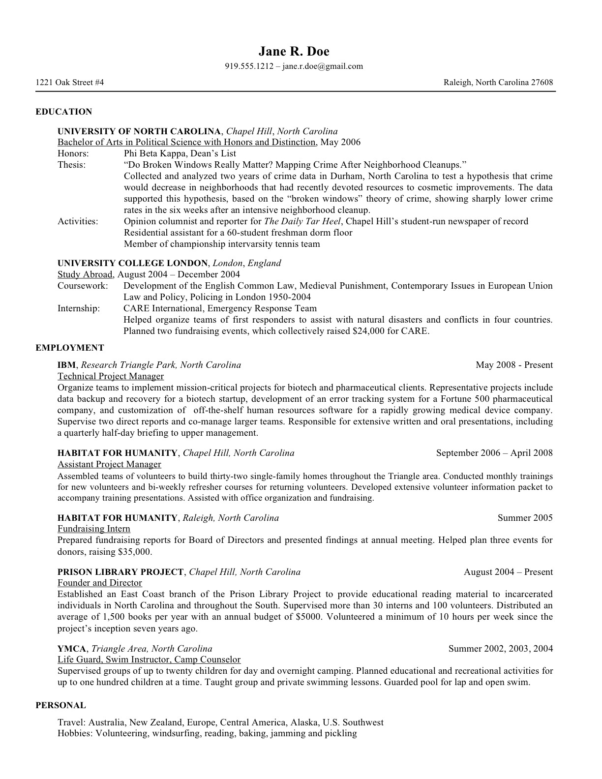law school resume templates prepping your for of university at personal section on Resume Personal Section On Resume