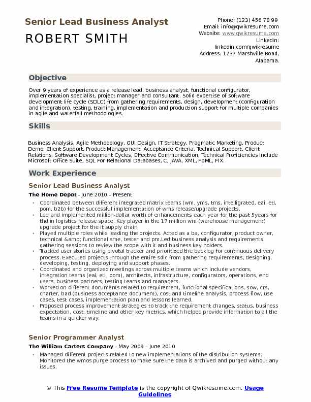 lead business analyst resume samples qwikresume with testing experience pdf former Resume Business Analyst Resume With Testing Experience