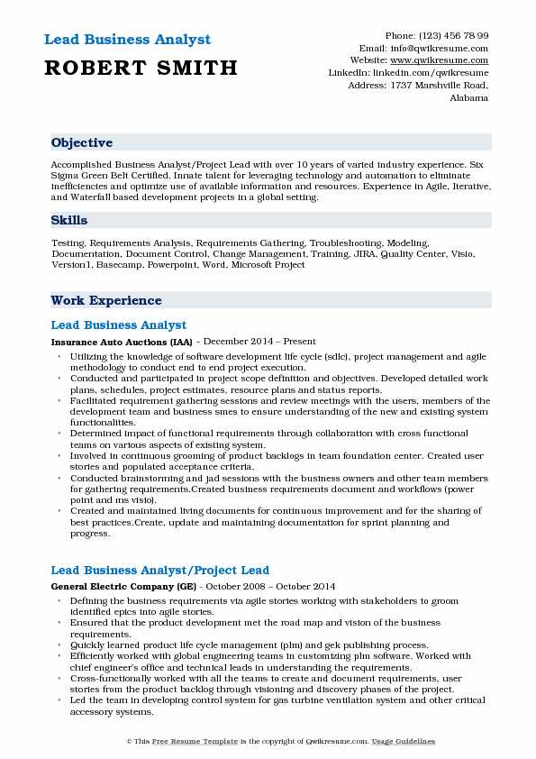 lead business analyst resume samples qwikresume with testing experience pdf retail Resume Business Analyst Resume With Testing Experience