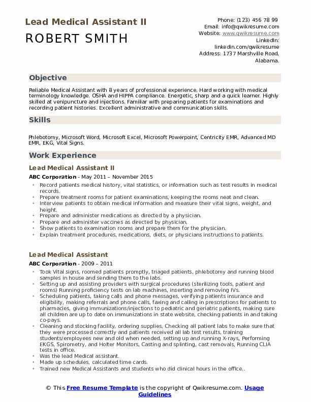 lead medical assistant resume samples qwikresume skills for pdf community engagement Resume Skills For Resume For Medical Assistant