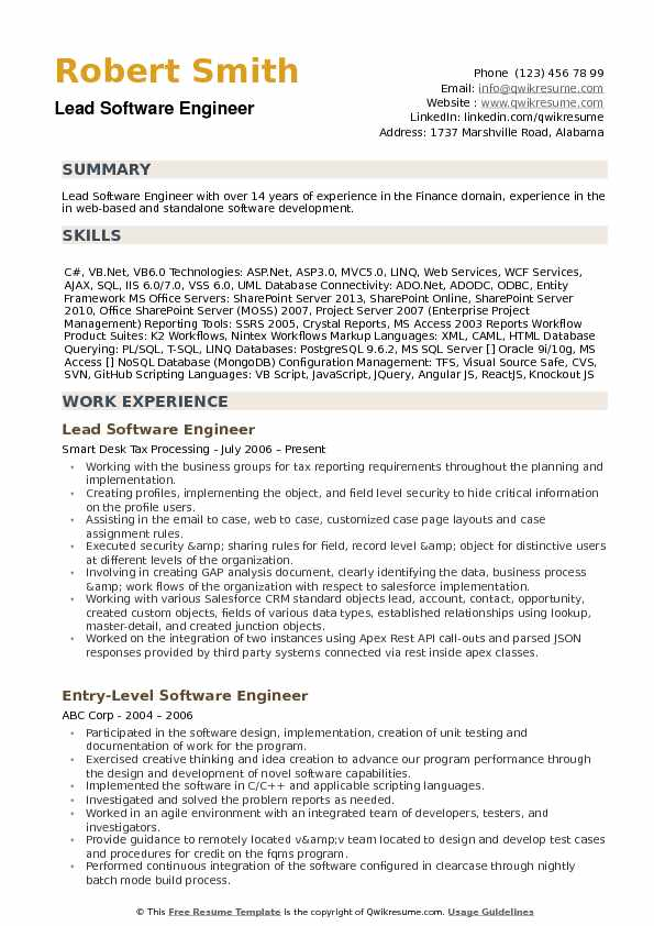 lead software engineer resume samples qwikresume development pdf qualifications examples Resume Software Development Resume