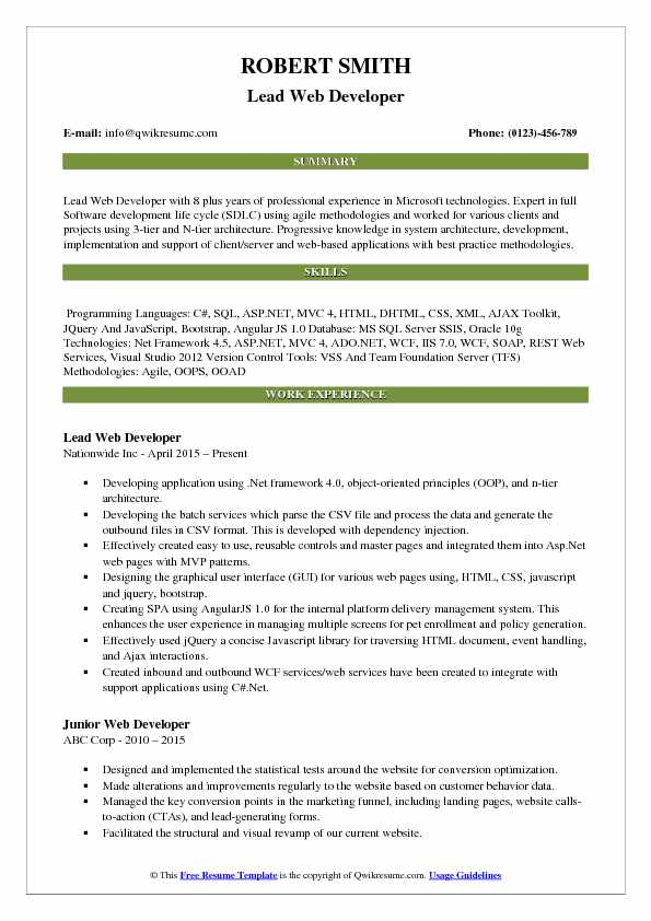 lead web developer resume samples qwikresume scraping sample pdf open office templates Resume Web Scraping Resume Sample