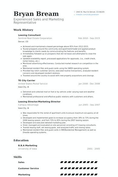 leasing consultant resume example manager if you are interested in making re agent Resume Leasing Consultant Resume