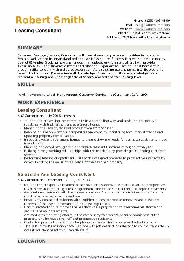 leasing consultant resume samples qwikresume manager job description pdf broad experience Resume Leasing Manager Job Description Resume