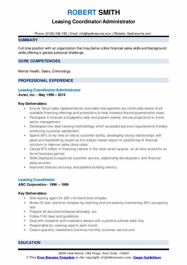 leasing coordinator resume samples qwikresume pdf creative infographic win from Resume Leasing Coordinator Resume