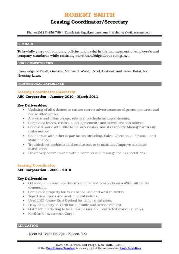 leasing coordinator resume samples qwikresume pdf science cover letter sitecore architect Resume Leasing Coordinator Resume