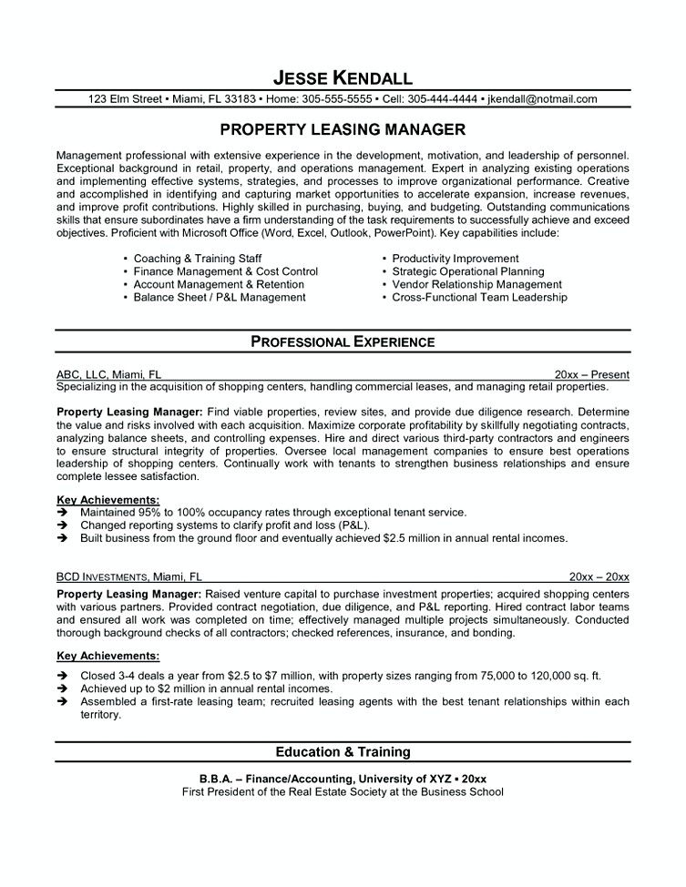 leasing manager resume agent if you are interested in making consultant property Resume Leasing Manager Job Description Resume
