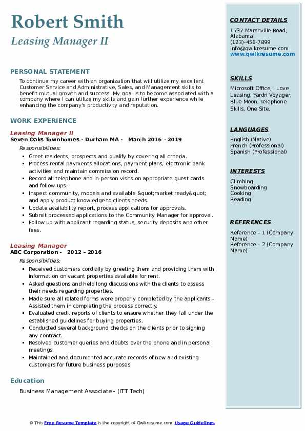 leasing manager resume samples qwikresume job description pdf people 12th pass student Resume Leasing Manager Job Description Resume