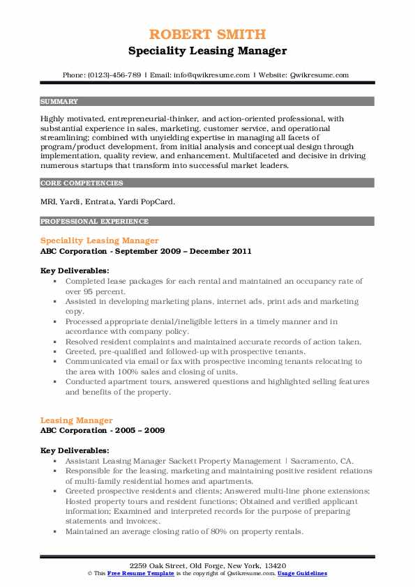 leasing manager resume samples qwikresume job description pdf physical education template Resume Leasing Manager Job Description Resume