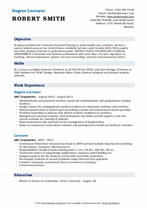 lecturer resume samples qwikresume experience pdf an example of summary for automotive Resume Lecturer Experience Resume