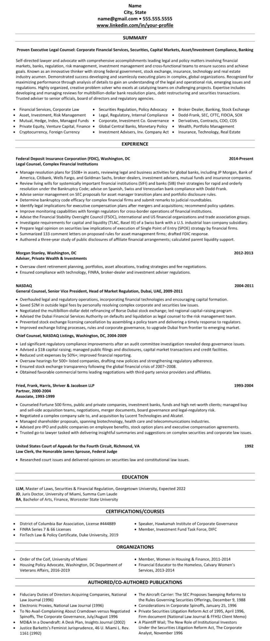 linkedin profile resume example attorney lawyer legal counsel writers reddit promoter job Resume Linkedin Resume Writers Reddit