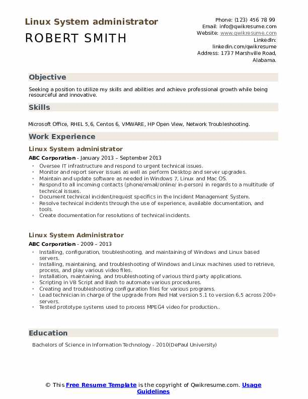 linux system administrator resume samples qwikresume objective pdf good examples for Resume System Administrator Resume Objective