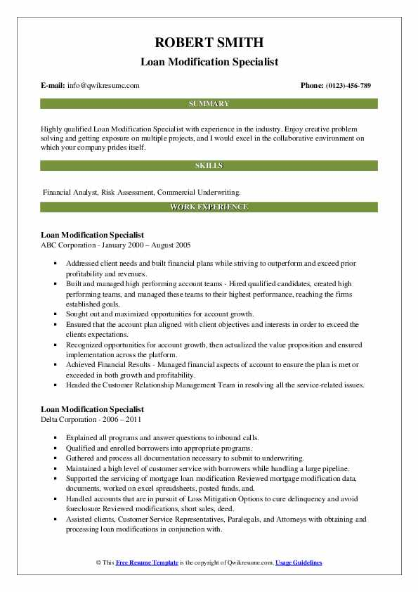 loan modification specialist resume samples qwikresume pdf lic agent skills for Resume Loan Modification Specialist Resume