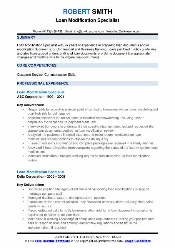 loan modification specialist resume samples qwikresume pdf skills for consulting based on Resume Loan Modification Specialist Resume