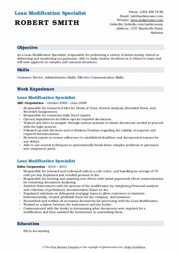 loan modification specialist resume samples qwikresume pdf wget based on work experience Resume Loan Modification Specialist Resume