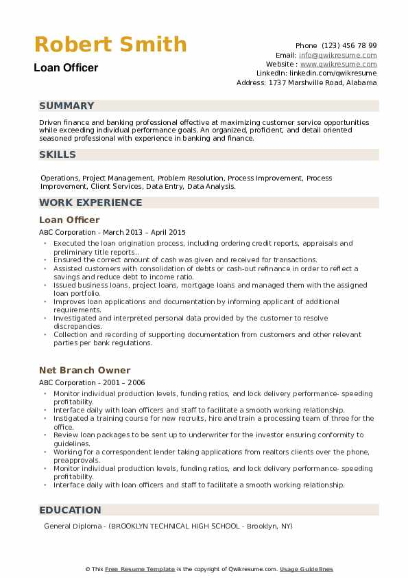 loan officer resume samples qwikresume examples pdf fernando baez template man coach Resume Loan Officer Resume Examples