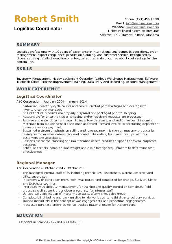 logistics coordinator resume samples qwikresume freight pdf create for teenager print out Resume Freight Coordinator Resume