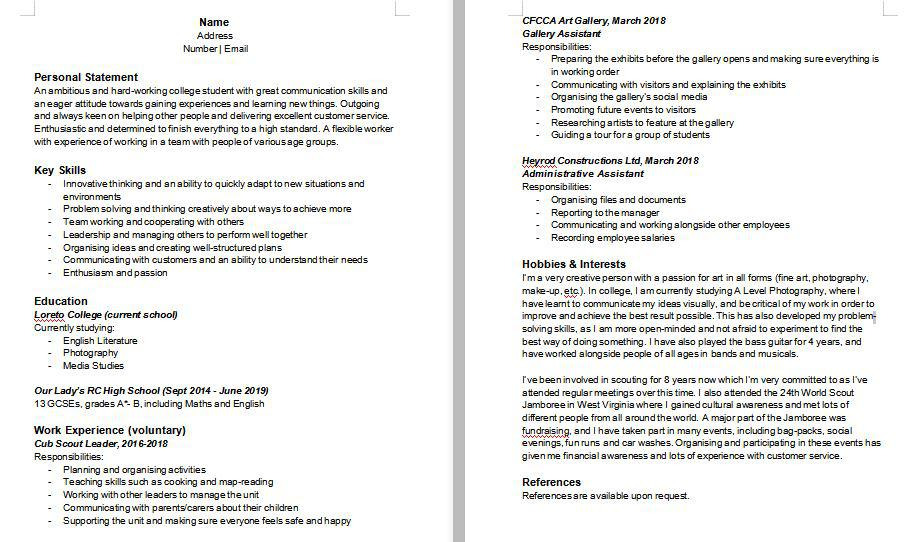 looking for my first part time job in retail please review cv resumes resume high school Resume First Time Job Resume For High School Student