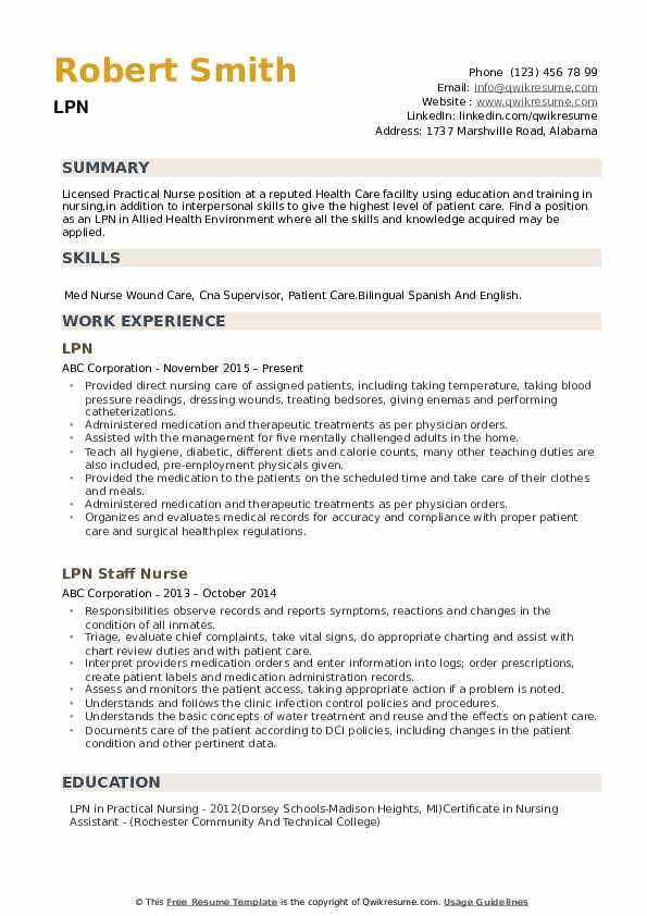 lpn resume samples qwikresume sample clinical experience pdf theatrical template nurse Resume Sample Lpn Resume Clinical Experience