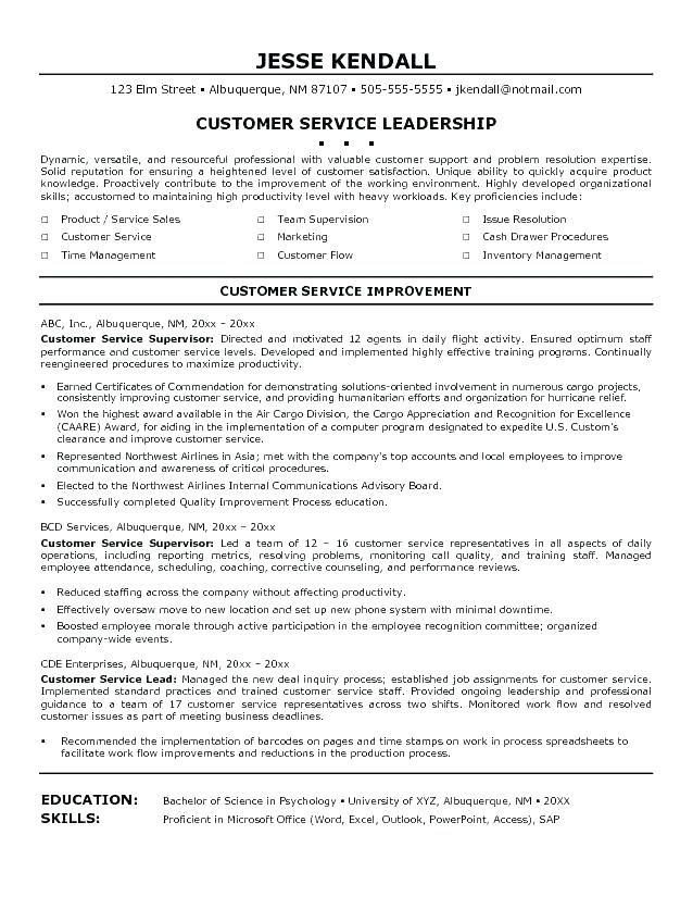 luxury stock of call center supervisor resume objective examples check mo customer Resume Customer Service Supervisor Job Description For Resume