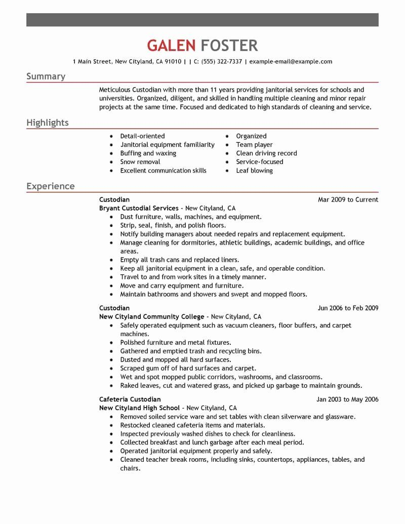 maintenance job description resume fresh best cleaning professionals example in examples Resume Cleaning Objective For Resume