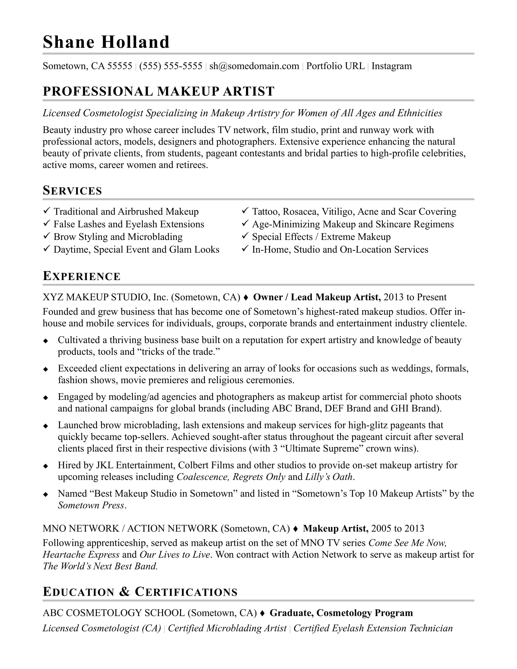 makeup artist resume sample monster templates free sophomore academic accomplishments Resume Makeup Artist Resume Templates Free