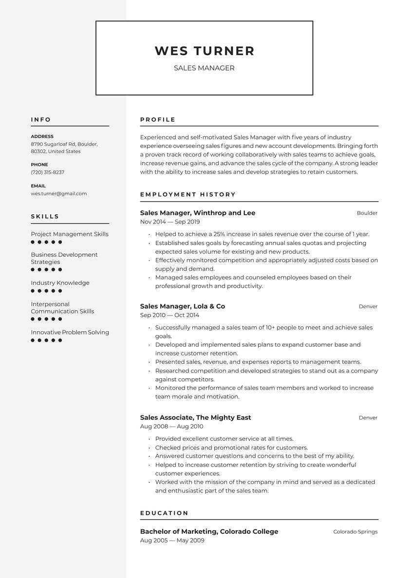 manager resume examples writing tips free guide io with one job history patient Resume Resume With One Job History