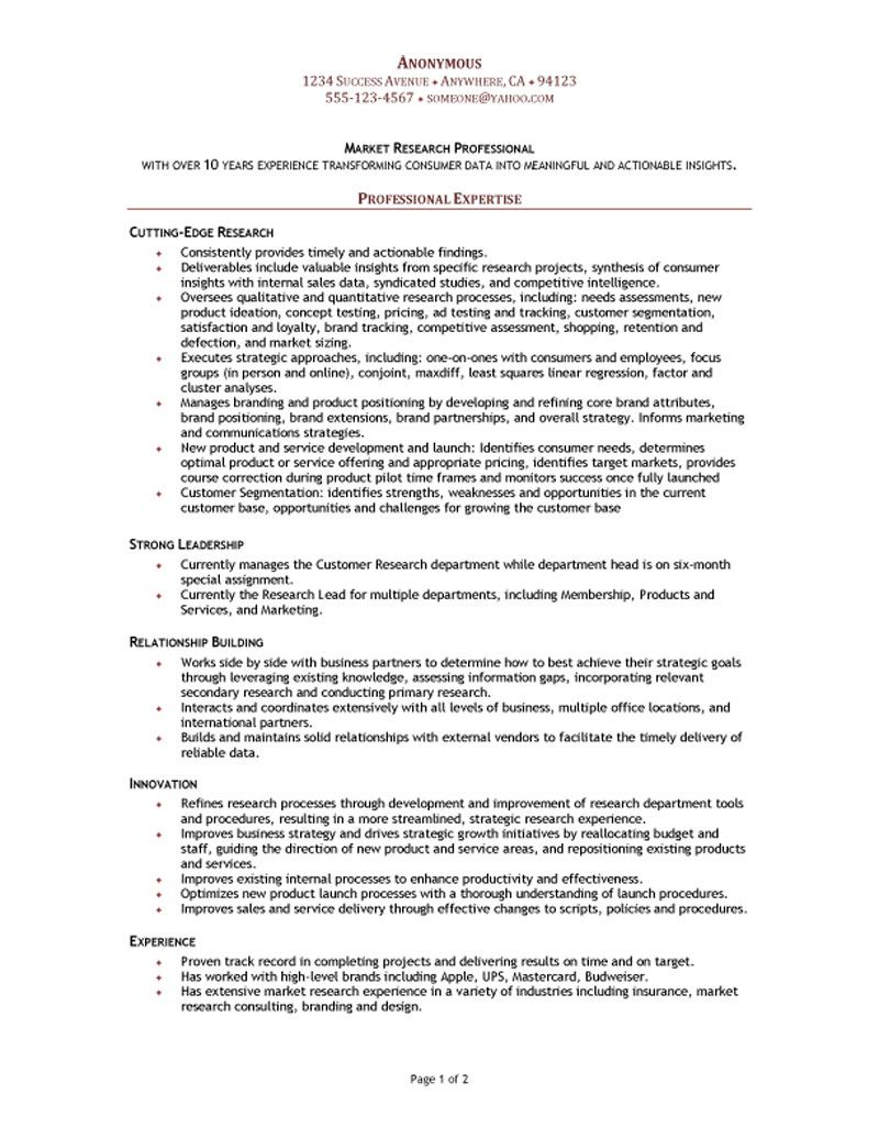 market research manager resume relationship building server duties and responsibilities Resume Resume Relationship Building