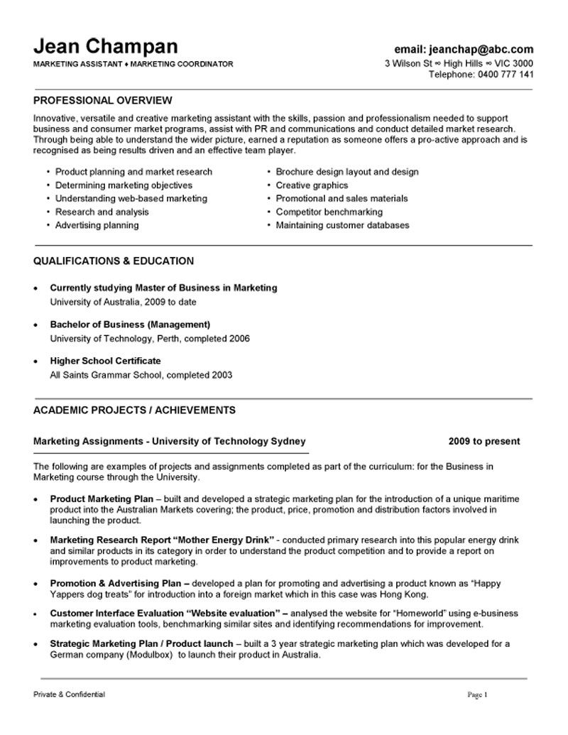 marketing coordinator assistant resume example job samples objective examples first Resume Marketing Coordinator Job Description Resume