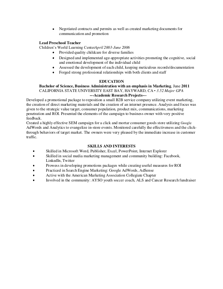 marketing coordinator resume email secretary template free objective for experienced Resume Email Marketing Coordinator Resume