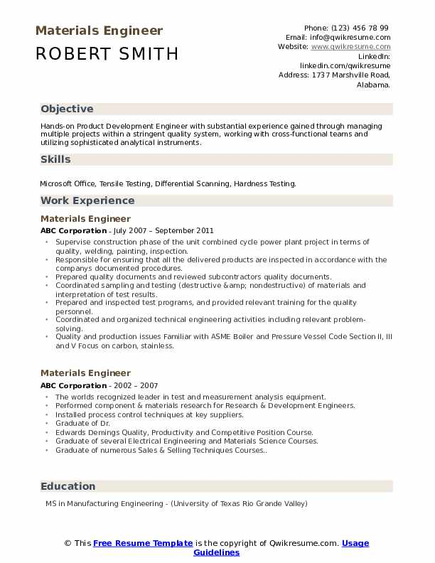 materials engineer resume samples qwikresume pdf perfect format gaffer strong summary for Resume Materials Engineer Resume