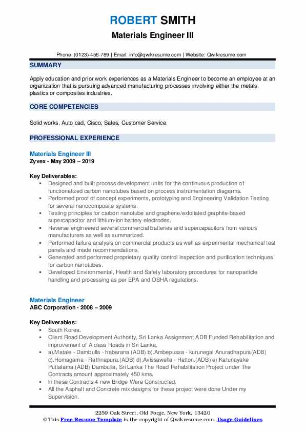 materials engineer resume samples qwikresume pdf various formats strong summary for Resume Materials Engineer Resume