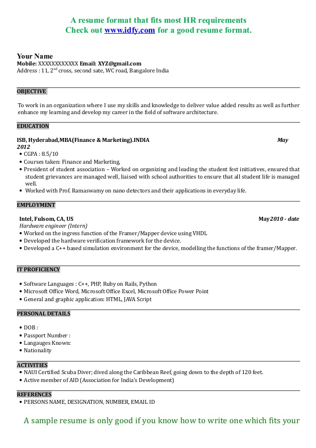 mba graduate resume sample format for admission financial advisor retail worker buyer Resume Resume Format For Mba Admission