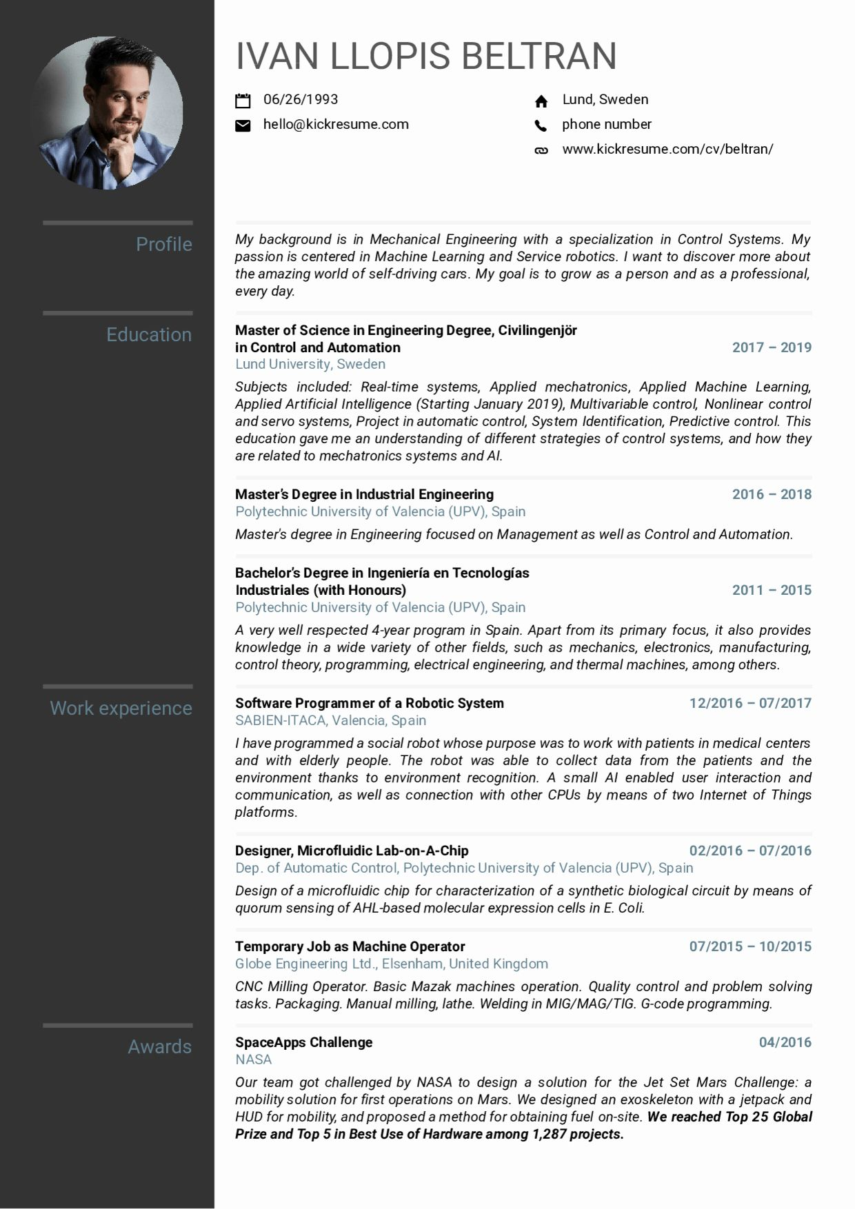 mechanical engineer resume sample fresh examples by people volvo enginee in internship Resume Good Machine Learning Projects For Resume
