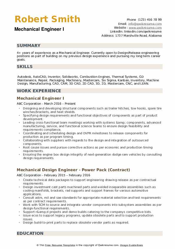 mechanical engineer resume samples qwikresume template free pdf cover letter and thank Resume Mechanical Engineer Resume Template Free Download