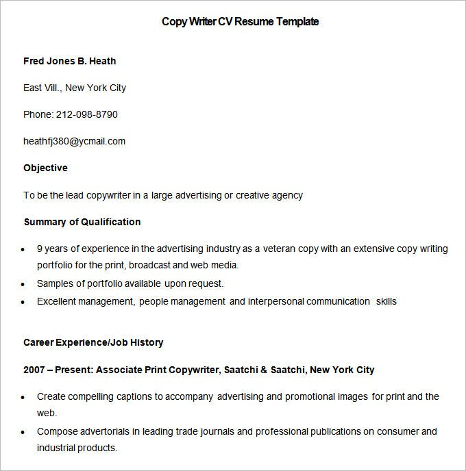 media resume template free samples examples format premium templates objective for sample Resume Objective For Media Resume
