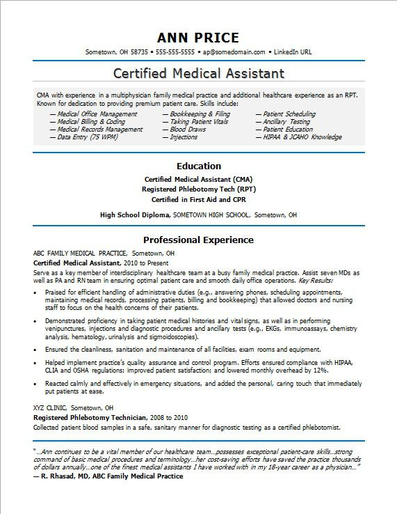 medical assistant resume sample monster objective for example simple short examples Resume Objective For Medical Assistant Resume Example